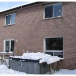 barrie real estate 42 garden, rear deck and hot tub